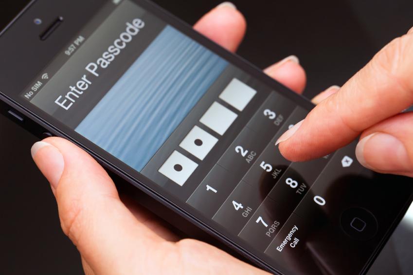 пароль на фото в смартфоне цветной