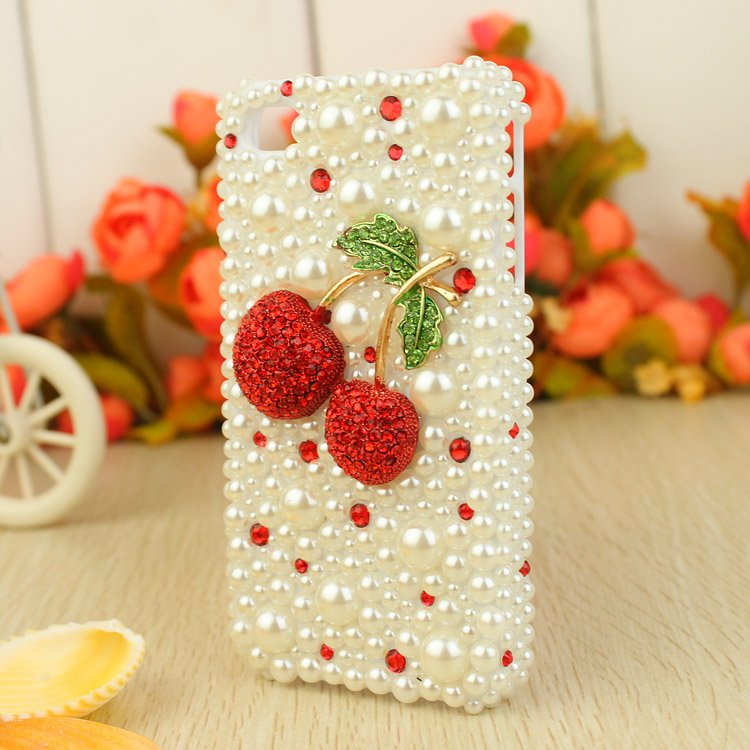 Free-shipping-Rhinestone-Crystal-Diamond-3D-Hard-mobile-phone-Case-Cover-for-iphone4-4s-white-beads