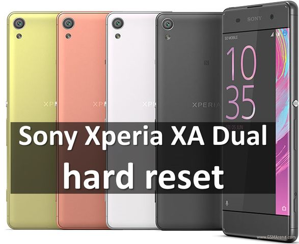 Sony Xperia XA Dual hard reset: снять графический ключ